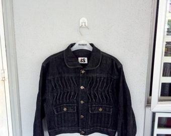 Rare Issey Miyake Is early 80an Trucker Jacket Medium size