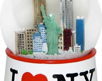 I Love New York Black, White or Pink 45mm Snowglobes