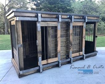 Farmhouse Style Double Dog Kennel