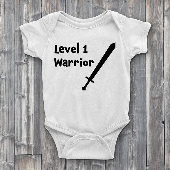 Level 1 Warrior Class 100% Soft Cotton Baby ONESIE