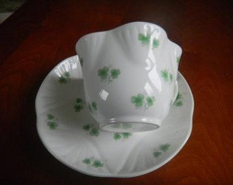ROYAL YORK Petite Shamrock Fluted Vintage 1950s Cup & Saucer