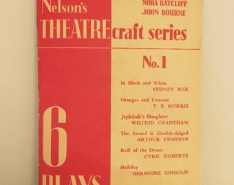 Gift for actor. Rare collection of plays - vintage book. Perfect for drama / theatre lovers.