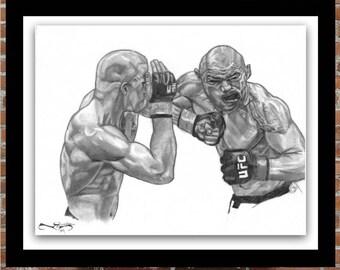 St Pierre UFC Fight Portrait