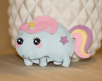 Unicorn mini plush felt
