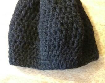Black, child's winter hat