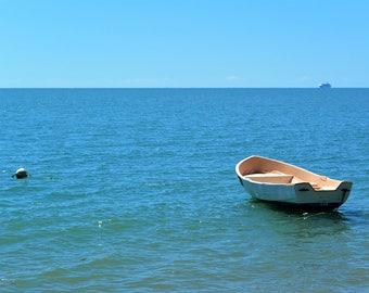 Boat Photography over the Pacific Ocean horizon near Port Douglas, Queensland Australia