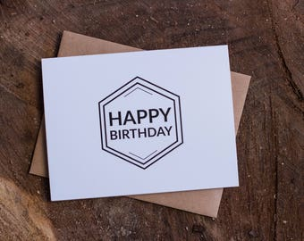 Happy Birthday Hexagon Card Set