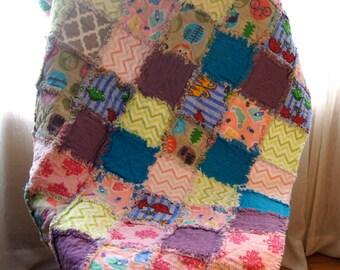Patchwork Baby Rag Quilt