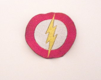 Flash Iron On Embroidered Fabric Patch for Clothes