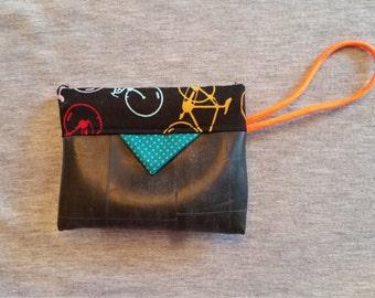 Small clutch purse w/wrist loop