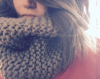 Chunky Knitted Cowl Scarf