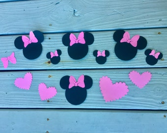 Handmade Minnie Mouse Cut Out Etsy