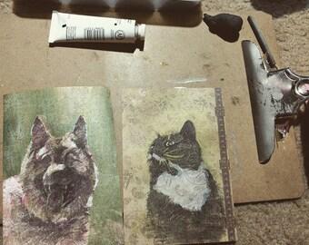 Metallic Mini Pet Portrait