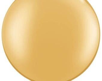 "36"" Gold Latex Large Balloon"
