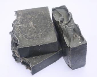 Charcoal + Sea Salt Acne Soap | ALL NATURAL | Acne Treatment, Acne Soap, Charcoal Soap, Facial Soap Bar, Organic Soap, Artisan Soap