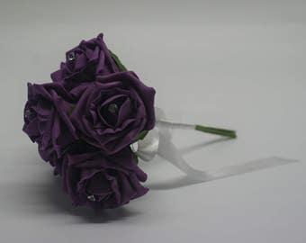 Wedding Posy - Perfect for Bridesmaids ( Damson )
