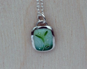 Enamel Pendant Necklace