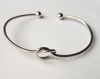 Knot Bracelet | Love Knot Bracelet | Silver/Gold Knot Bracelet | Bridesmaid  Bracelet |