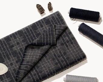 Sashiko Wool Scarf Nº1 - Oversized Lambswool Scarf, made in Scotland
