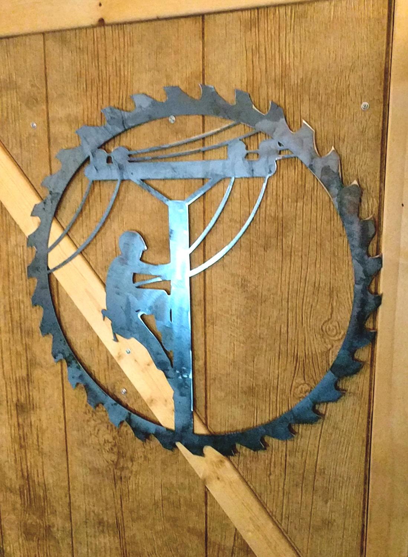 Lineman Decor Lineman Door Hanger Personalized Metal Sign