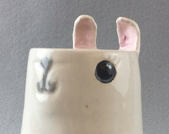 Cute Handmade Alpaca/Llama Shaped Ceramic Mug (The Taylor)