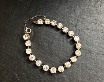 Art Deco bracelet. Diamante bracelet. Costume jewellery. Rhinestone bracelet. Mothers Day. Vintage bracelet, Vintage jewellery. Bracelet