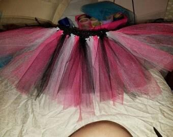 Black, pink, white tutu