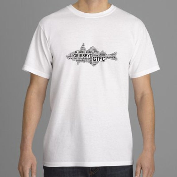 Fish - word art (1.50 from each shirt to go to Cancer Research UK)