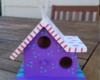 Hand painted mini birdhouse