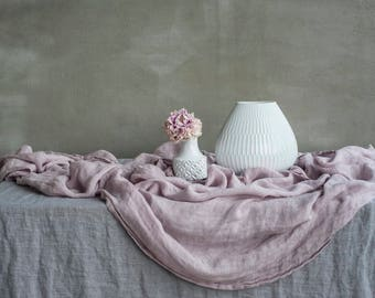 ETHEREAL TABLE RUNNER made of pure linen muslin in 6 pastel colours