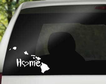 Hawaii Decal, State Decal, Hawaii Car Decal, Hawaii Home Decal, State Car Decal, Laptop Decal, Tumbler Decal, Water Bottle Decal