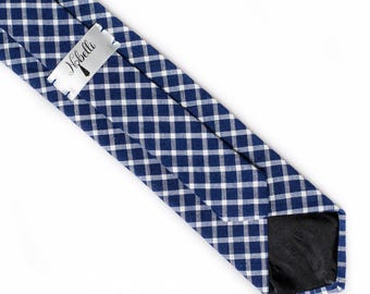 Blue gingham tie, gingham skinny tie, blue skinny tie, mens blue skinny tie, blue plaid necktie, mens blue ties, blue necktie, men's ties