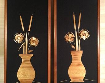 Mid Century Straw Art