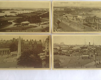 Southport, England  Postcards from the 1930's - Excel Series - 4 Postcards