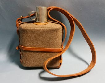 Vintage British Water Canteen or Water Bottle by Rigby and Mellor, 1966