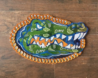 University of Florida bottle cap art