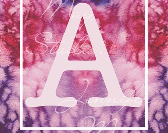Alphabet on Watercolour.