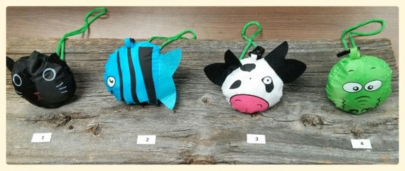 Cute reusable bags in the shape of animals