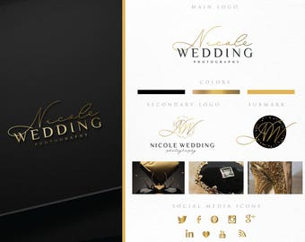 Branding Package,Photography Logo,Real Estate, Makeup Logo,Interior Design Logo,Gold Foil,Fashion Blog Business Logo,Chic,Lawyer,Signature