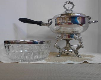 Eagle Silverplated Chafing Warmer and Serving Bowl