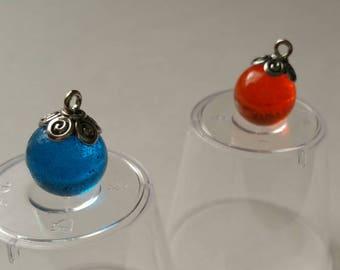 Orb Charm Pendant/Blue Orb Pendant/Orange Orb Pendant/ Ball Pendant/Orb Charm/Orb Pendant