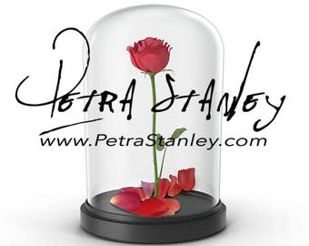 Beauty and the Beast Rose in Glass - Transparent PNG Clipart - Beauty and the Beast Rose Display Case Overlay - Fairytale - Glass Dome