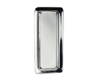 Heavy Rectangle Pendant with 16x44mm Inset Frame Silver Plated