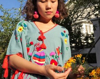 Pom Pom Earrings Bubbly Hippie Style