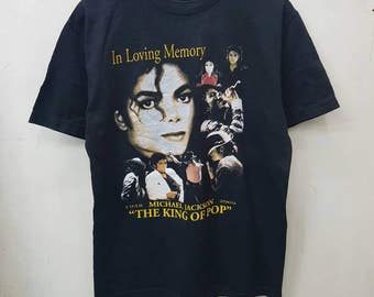 Rare Michael jackson The King Of Pop T-shirt Nice Design