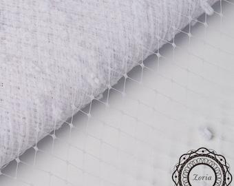 12'' Zoria Paris Chenille Dot Veiling Merry Widow Veiling Netting per yard   A010612A