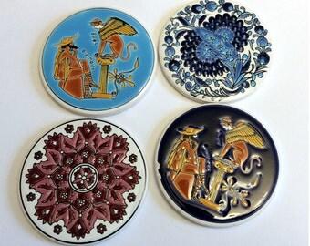 Vintage Greek Porcelain Coasters - NIARCHOS HELLAS