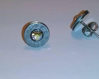Bullet shell post earrings