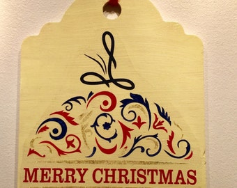 Merry Christmas Ornament Sign