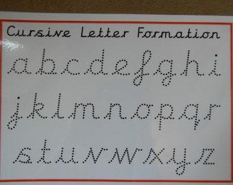 Cursive Handwriting Practice Mat - Lower Case Letters -Wipe Clean -EYFS/SEN/KS1